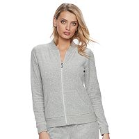 Women's Juicy Couture Gray Velour Jacket