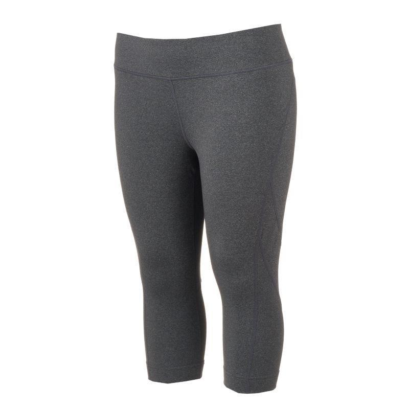 Plus Size Tek Gear® Shape Capri Yoga Leggings, Women's, Size: 3XL, Dark Grey