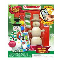 Masterpieces Puzzle Works of Ahhh... Winter Snowman Wood Painting Kit