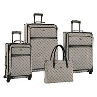 Travel Gear Orion 4 Piece Expandable Spinner Luggage Set (Multi Colors)