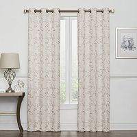 Regent Court 2-pack Leaf Embroidery Curtain
