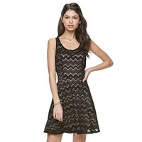 Juniors' Candie's® Illusion Lace Skater Dress