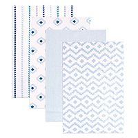Hudson Baby 4-pk. Pattern Flannel Baby Blankets