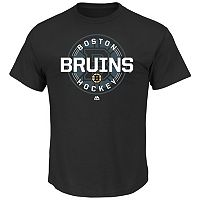 Men's Majestic Boston Bruins Clearing the Puck Tee