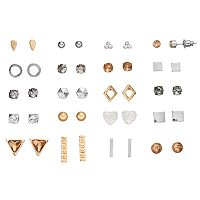 Mudd® Pyramid, Square, Triangle & Bar Stud Earring Set