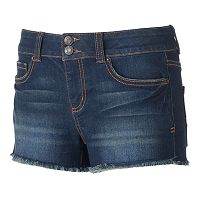 Juniors' Mudd® FLX Stretch 2-Button Shortie Shorts