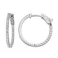 Fleur Cubic Zirconia Inside-Out Hinged Hoop Earrings