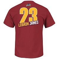 Men's Majestic Cleveland Cavaliers LeBron James Record Holder Tee