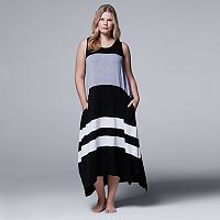 Plus Size Simply Vera Vera Wang Whisper Garden Tank Maxi Dress