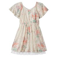 Disney D-Signed Beauty and the Beast Girls 7-16 Lace Floral Celebration Dress