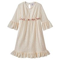 Disney D-Signed Beauty and the Beast Girls 7-16 Lace Bell Sleeve Babydoll Dress