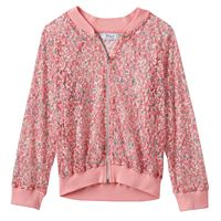Disney D-Signed Beauty and the Beast Girls 7-16 Floral Mesh Bomber Jacket