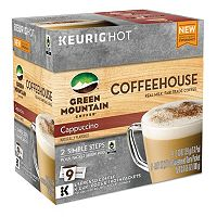 Keurig® K-Cup® Pod & Froth Packets Green Mountain Coffee Coffeehouse Cappuccino - 9-pk.