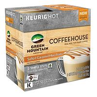 Keurig® K-Cup® Pod & Froth Packets Green Mountain Coffee Coffeehouse Salted Caramel Macchiato - 9-pk.