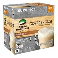 Keurig® K-Cup® Pod & Froth Packets Green Mountain Coffee Coffeehouse Vanilla Latte - 9-pk.