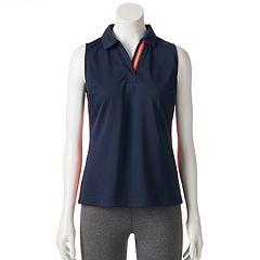 Women's Fila SPORT Contrast Sleeveless Golf Polo