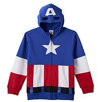 Boys 8-20 Marvel Captain America Full-Zip Hoodie
