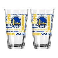 Boelter Brands Golden State Warriors 2-Pack Pint Glass Set