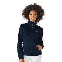 Women's Seattle Seahawks Quarter-Zip Fleece Jacket