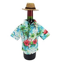 Celebrate Summer Together Tropical Shirt Wine Bottle Cover