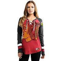 Women's Majestic Chicago Blackhawks Hip Check Top
