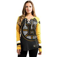 Women's Majestic Boston Bruins Hip Check Top