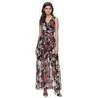 Disney's Beauty and the Beast Juniors' Floral Surplice Maxi Dress