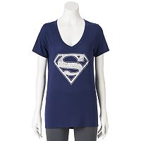 Juniors' DC Comics Superman Logo Graphic Tee