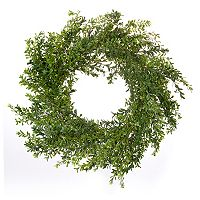 Darice 24-in. Artificial Green Boxwood Wreath