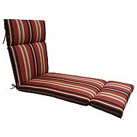 SONOMA Goods for Life™ Suntastic 1000 Striped Indoor Outdoor Reversible Chaise Lounge Cushion