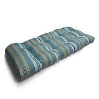 SONOMA Goods for Life™ Suntastic 1000 Striped Indoor Outdoor Reversible Double ''U'' Love Seat Cushion