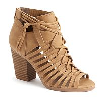 SO® Women's Strappy Block Heel Sandals