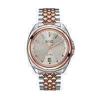 Bulova Men's Accu Swiss Automatic Two Tone Stainless Steel Watch - 65B159