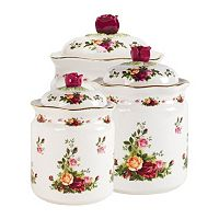 Royal Albert Old Country Roses 3-pc. Canister Set