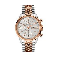 Bulova Men's Accu Swiss Automatic Two Tone Stainless Steel Watch - 65C114