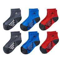 Boys adidas 6-Pack ClimaLite Quarter-Cut Socks