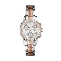 Bulova Women's Accu Swiss Diamond Two Tone Stainless Steel Watch - 65R153