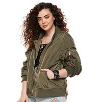 madden NYC Juniors' Plus Size Bomber Jacket