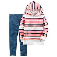 Baby Girl Carter's Striped Hoodie & Jeggings Set