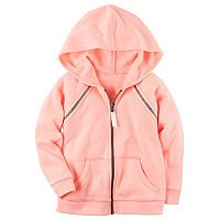 Girls 4-6x Carter's Neon Pink French Terry Zip-Up Hoodie