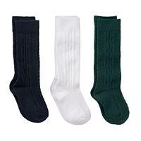 Girls 7-11 Trimfit 3-pk. Cable Knit Knee-High Socks