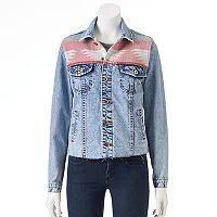 Juniors' Cloud Chaser Southwestern Jean Jacket