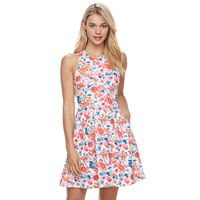 Juniors' SO® Textured Floral Skater Dress