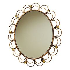 New View Scalloped Oval Wall Mirror by