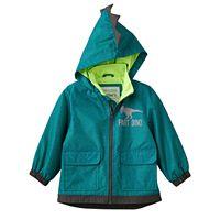 Toddler Boy Carter's Lightweight Green Dino Rain Jacket