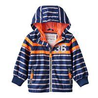 Toddler Boy Carter's Striped Hooded Lightweight Jacket