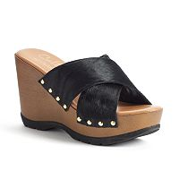 Callisto of California Cinamon Women's Wedge Sandals