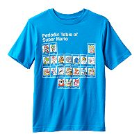 Boys 8-20 Super Mario Bros. Periodic Table Tee