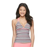 Mix and Match Geometric Crisscross Tankini Top