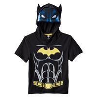 Toddler Boy Batman Hooded Suit Graphic Tee